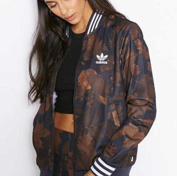 2d2fd8583bb8 adidas Jackets   Blazers - Adiddas Leaf Camo Superstar Track Jacket S